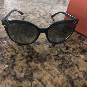 Tory Burch Green Cat Eye Sunglasses